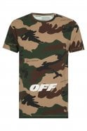 OFF WHITE Off-White Camouflage Cotton T-shirt