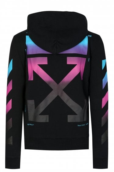 Off-White Diagonal Gradient Hooded Sweatshirt