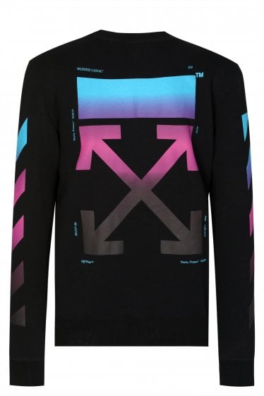 Off-White Diagonal Gradient Sweatshirt