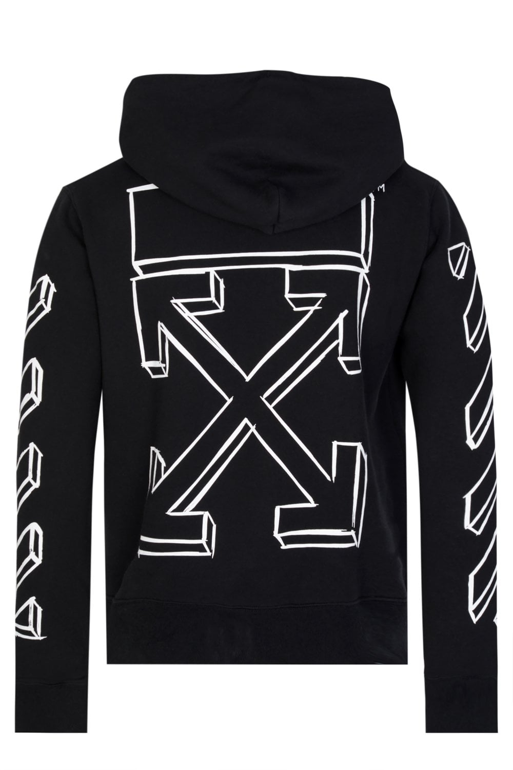 4eb868716d Off-White Diagonal Marker Arrows Hooded Top Black