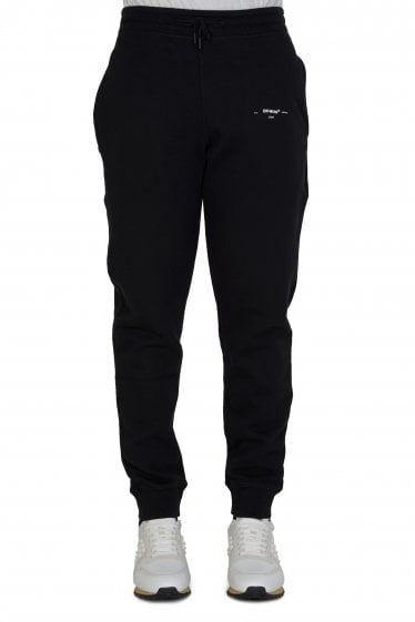 Off-White Diagonal Marker Joggers Black