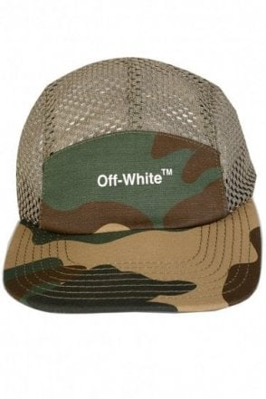 Off-White Mesh 5 Panel Camo Cap