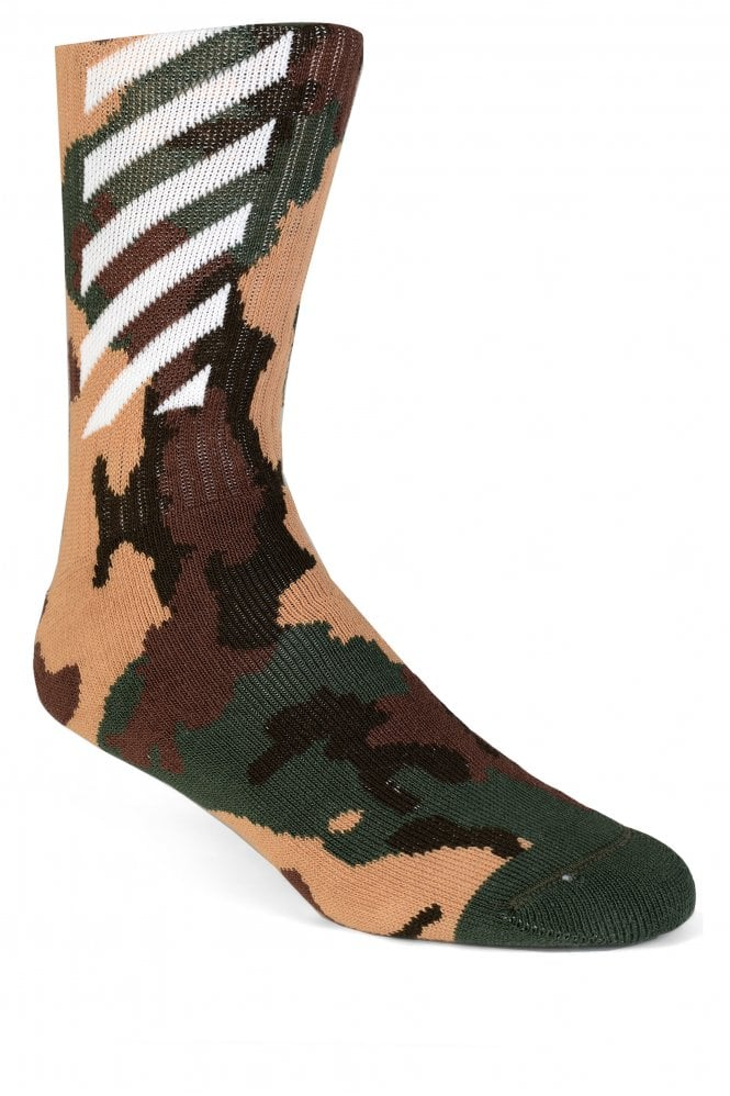 OFF WHITE Off-White Quote Camo Socks