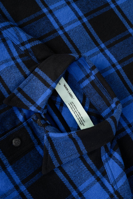 2edbec85b0ae Off-White Quote Flannel Shirt Blue