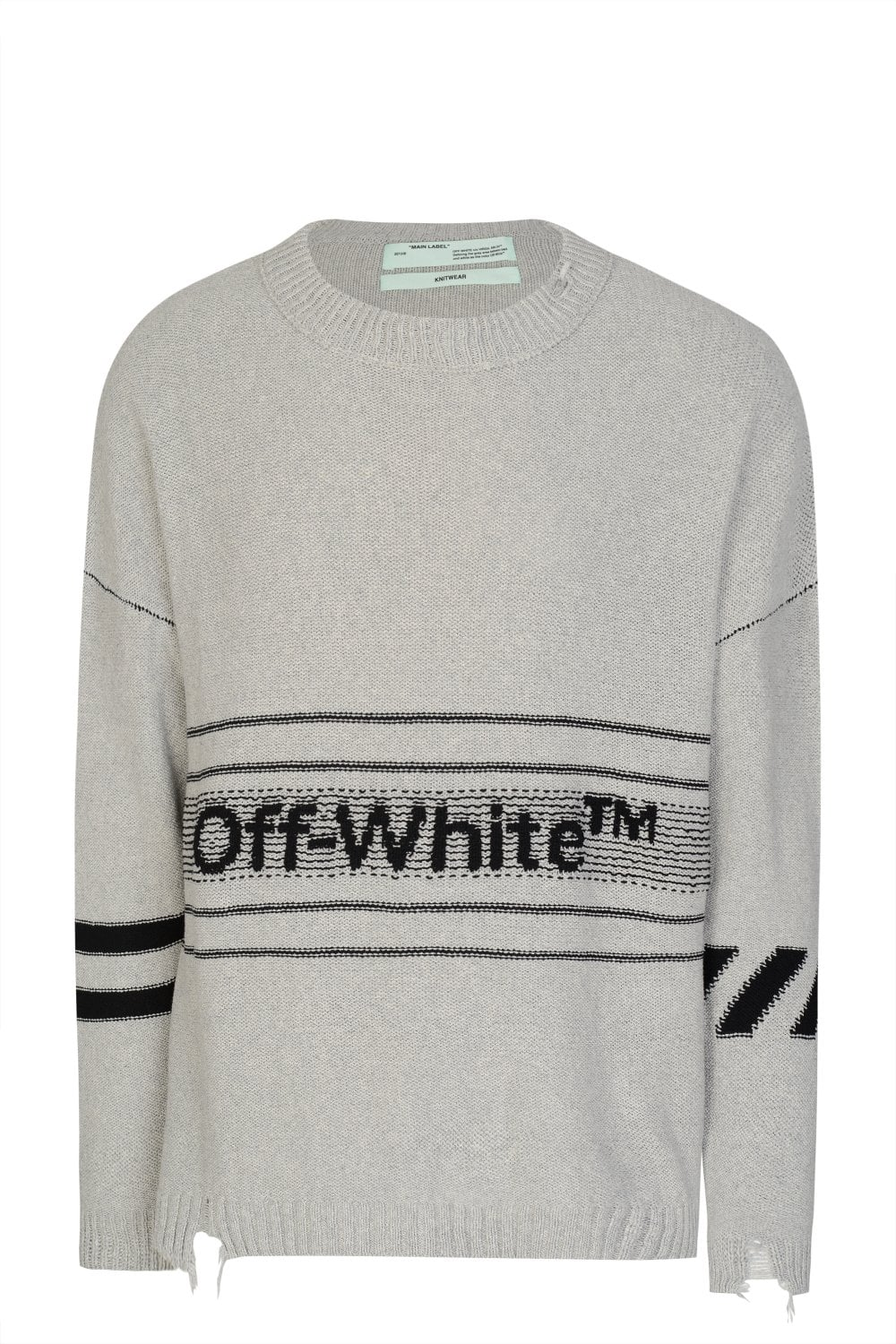 2a02783a49a7 OFF WHITE Off White Round Neck Knitted Jumper - Clothing from Circle ...