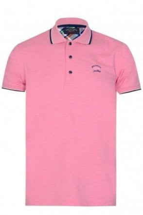 Paul & Shark Chest Logo Polo Pink