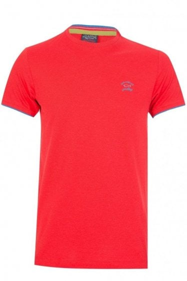 Paul & Shark Chest Logo Shark Fit T-Shirt Red