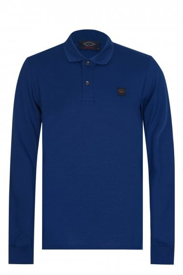 Paul & Shark Classic Long Sleeved Polo Blue