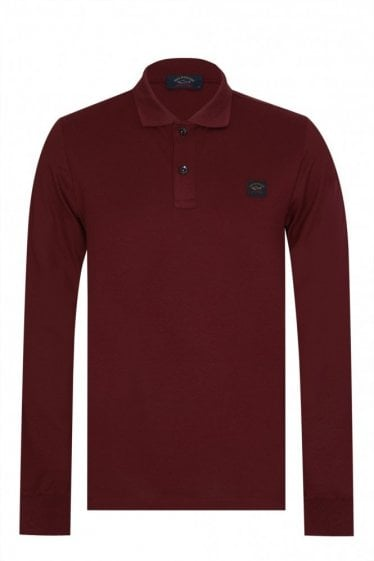 Paul & Shark Classic Long Sleeved Polo Burgundy