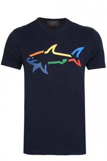 Paul & Shark Colorful Shark Logo Tshirt