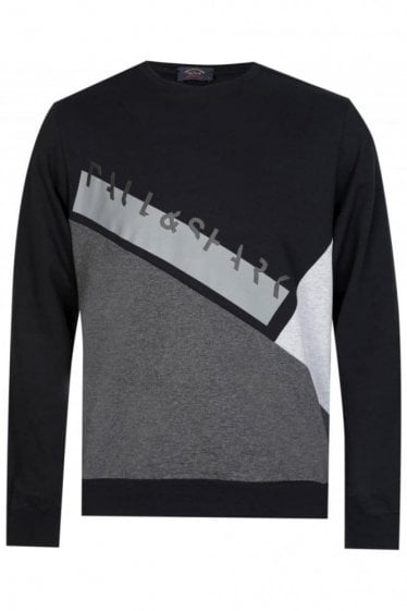 Paul & Shark Contrast Panel Sweatshirt Black