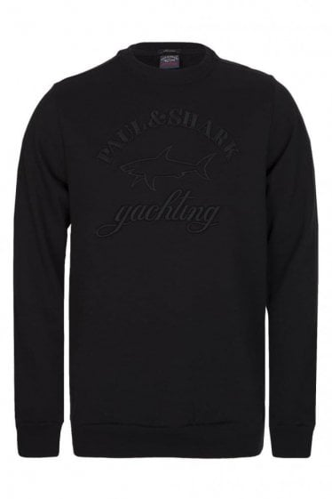 Paul & Shark Embroidered Logo Sweatshirt Black