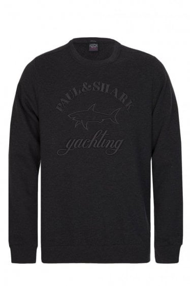 Paul & Shark Embroidered Logo Sweatshirt Charcoal