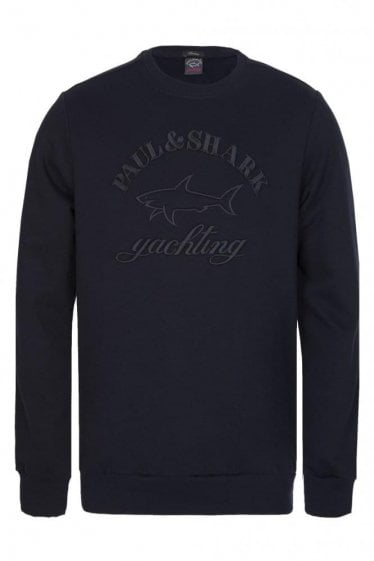 Paul & Shark Embroidered Logo Sweatshirt Navy
