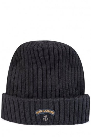 Paul & Shark Knitted Beanie Black