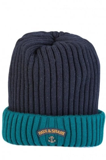 Paul & Shark Knitted Beanie Green