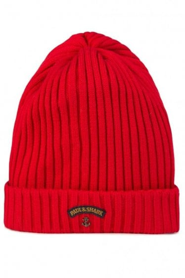 Paul & Shark Knitted Beanie Red