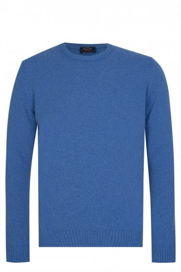 Paul & Shark Lambswool Crew Neck Jumper Blue
