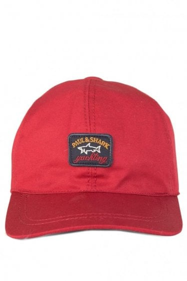 Paul & Shark Logo Classic Baseball Cap Red