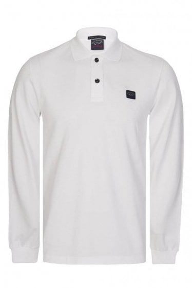 Paul & Shark Long Sleeved Logo Polo White