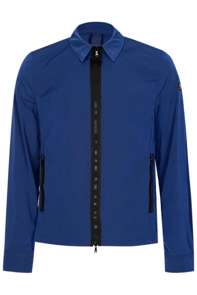 Paul & Shark Nylon Metal Overshirt Blue