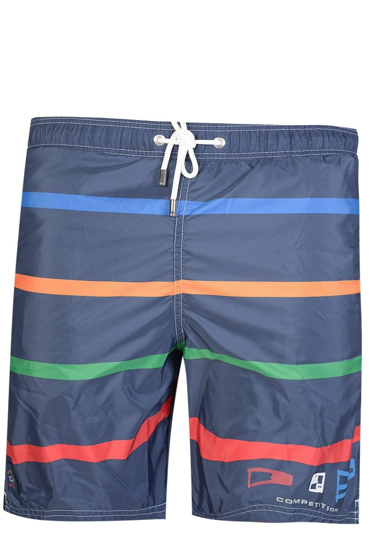 454f3d1599 Paul & Shark Nylon Multi Stripe Swim Shorts Navy