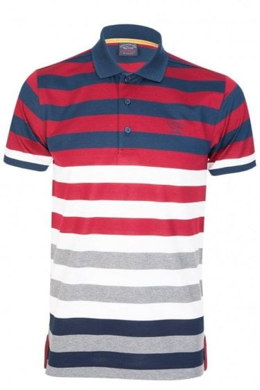 Paul & Shark Ombre Striped Polo