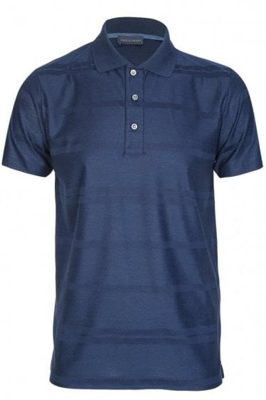 Paul & Shark Organic Cotton Shark Fit Polo Navy