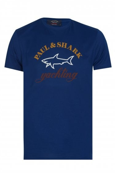 Paul & Shark Oversized Logo T-shirt Shark Fit Blue