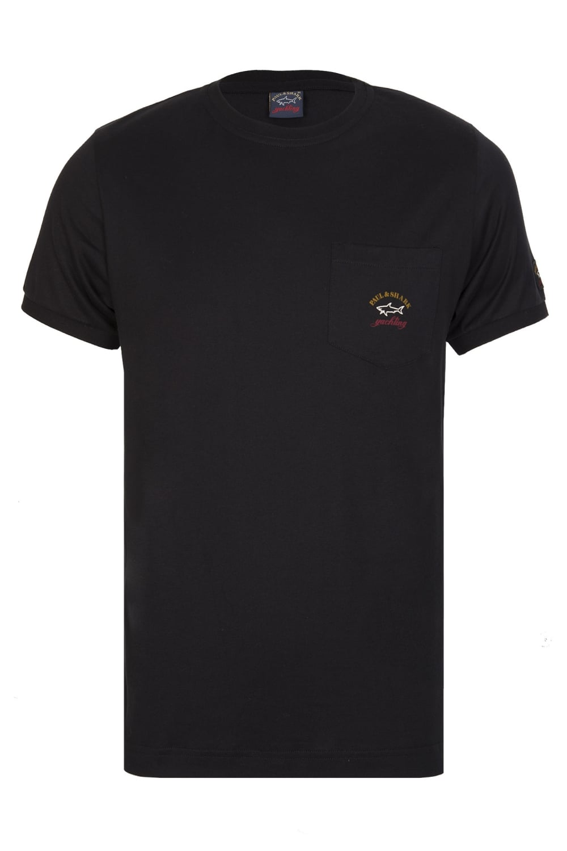 paul shark paul shark pocket logo t shirt black. Black Bedroom Furniture Sets. Home Design Ideas