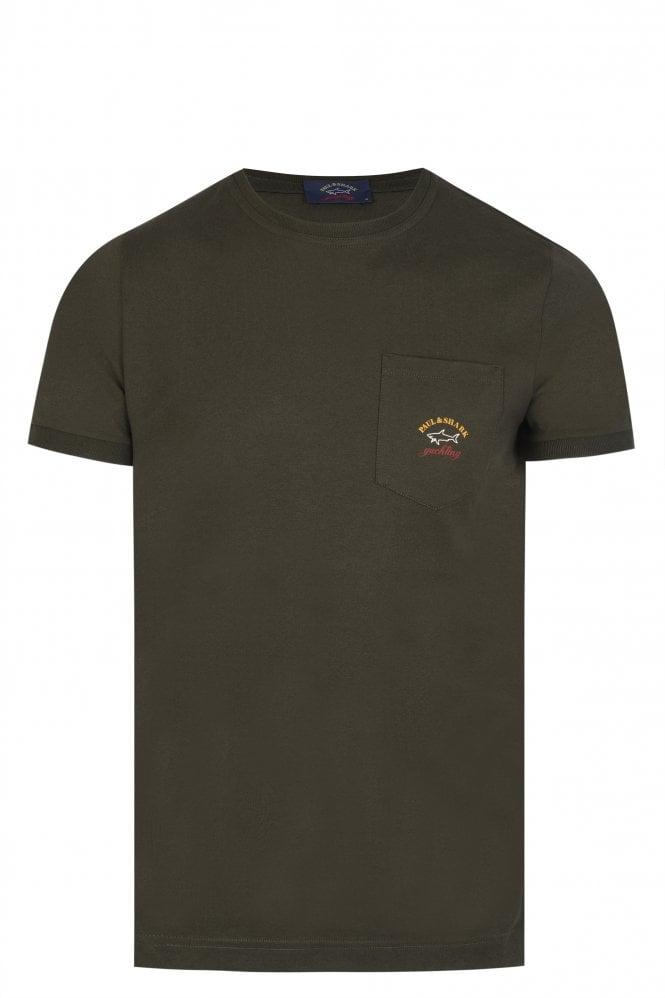 Paul & Shark Pocket T-Shirt Khaki
