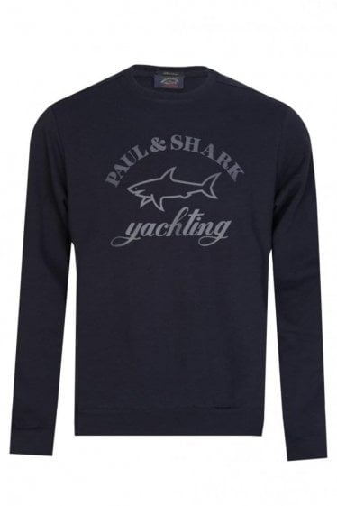 Paul & Shark Rubberized Logo Sweatshirt Navy