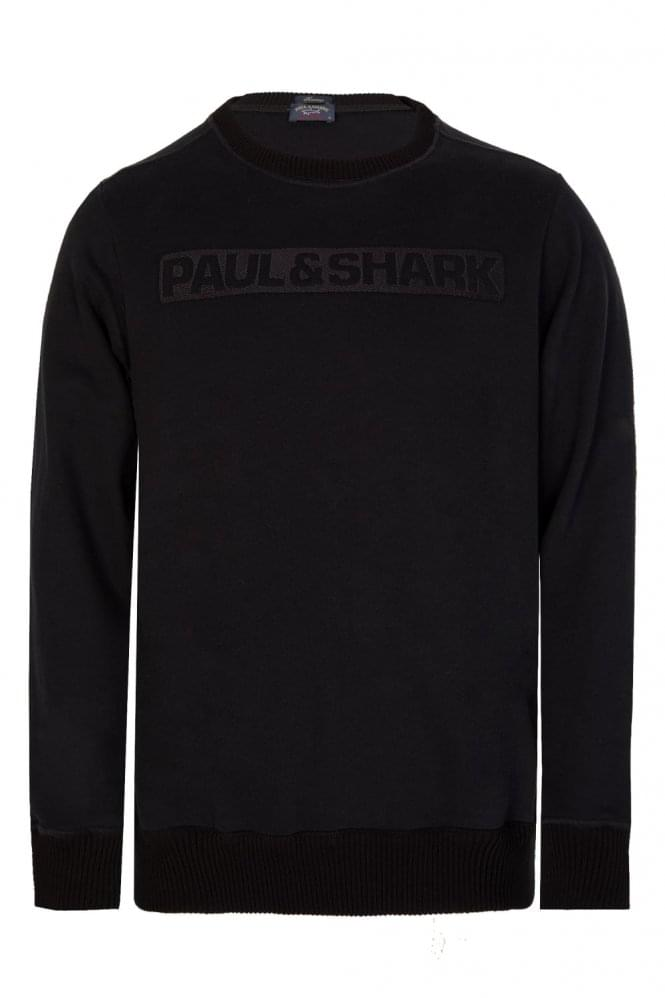 PAUL & SHARK Shark Fit Embroidered Logo Sweatshirt Black