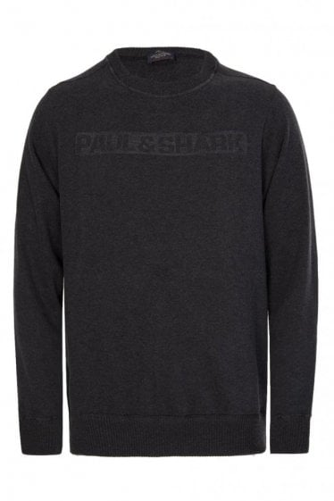 Paul & Shark Shark Fit Embroidered Logo Sweatshirt Charcoal