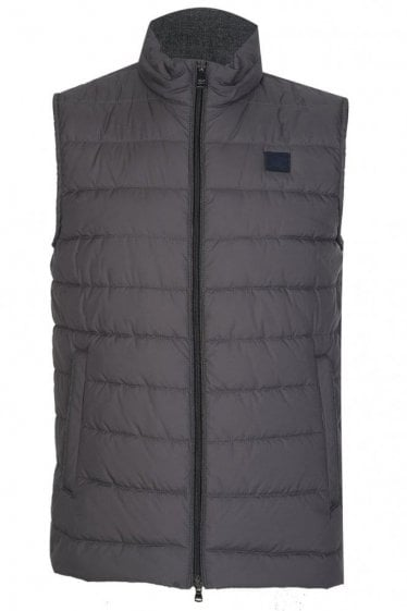 Paul & Shark Shark Fit Lightweight Down Gilet Grey