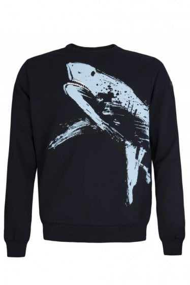 Paul & Shark Shark Fit Shark Print Sweatshirt Navy