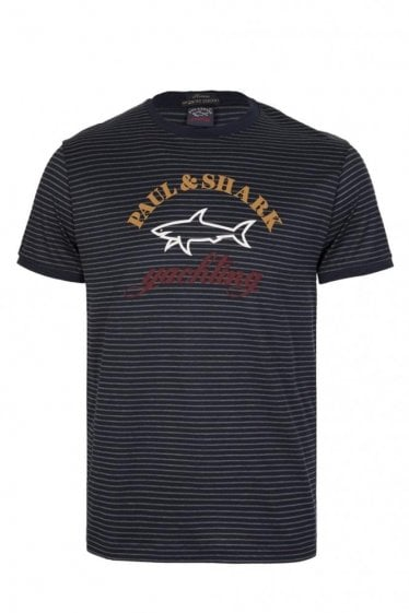 Paul & Shark Stripe T-Shirt Navy