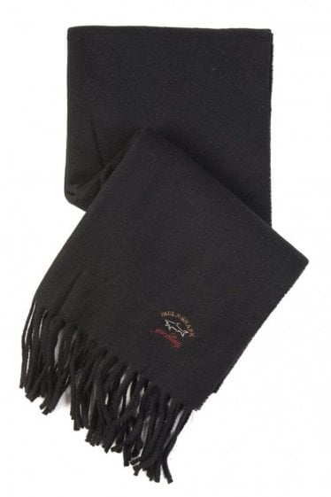Paul & Shark Wool Scarf Black