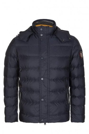 Paul & Shark Woven Down Jacket Navy