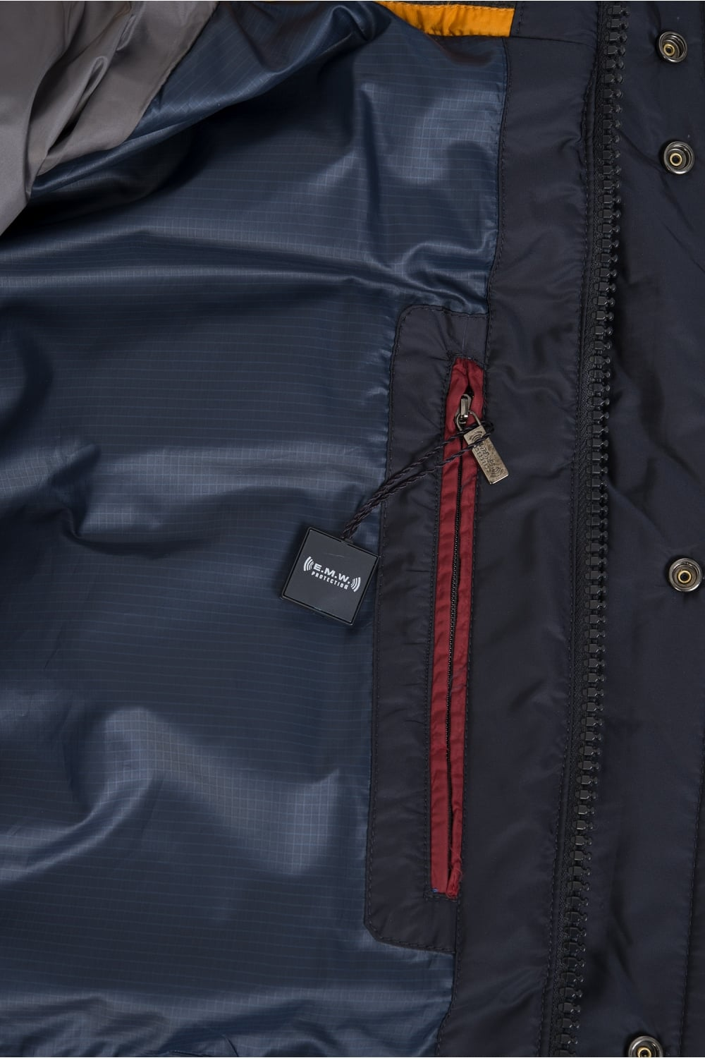 Paul Amp Shark Paul Amp Shark Woven Down Jacket Navy Paul