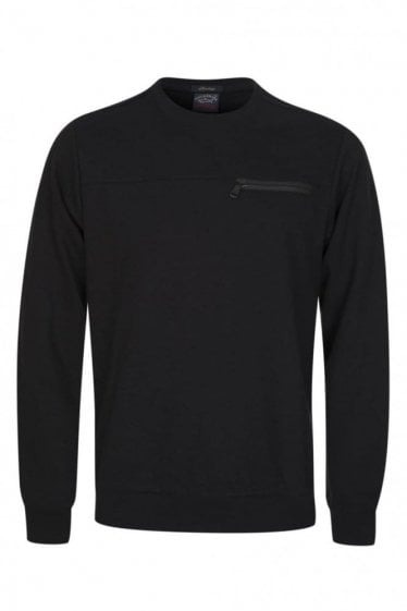 Paul & Shark Zip Pocket Sweatshirt Black