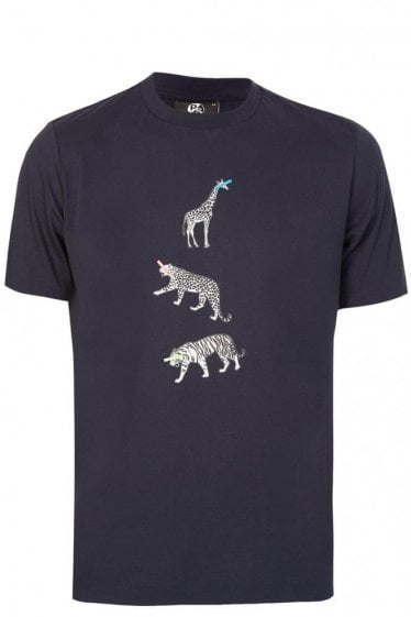 Paul Smith Animal Print Tshirt Navy