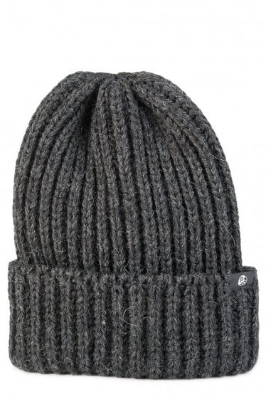 Paul Smith British Wool Knit Beanie Charcoal