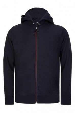 Paul Smith Contrast Trim Zip Hoodie Navy