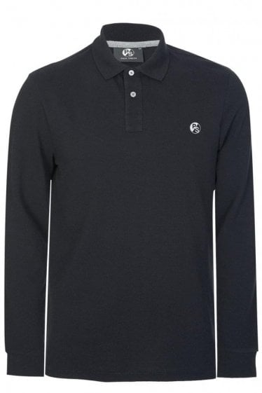 Paul Smith Cotton Chest Logo Polo Black
