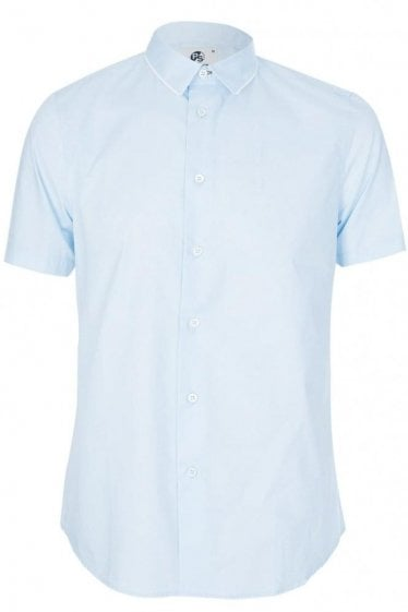 Paul Smith Cotton Slim Fit Shirt Sky Blue