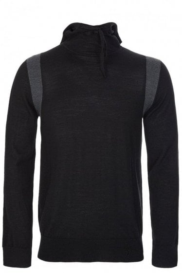 Paul Smith Fine Knit Hooded Jumper Black
