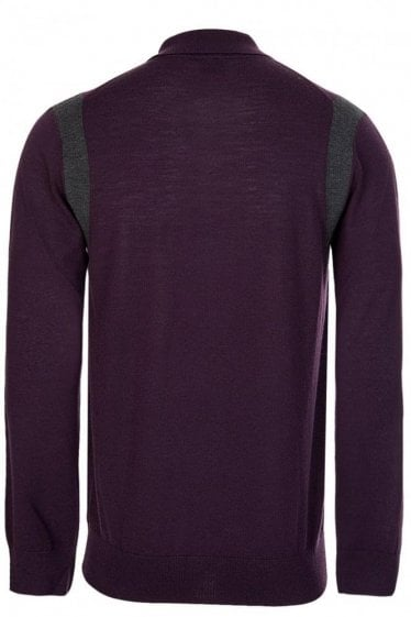 Paul Smith Fine Knit Long Sleeved Polo