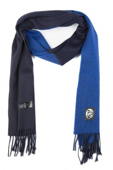 Paul Smith Half and Half Scarf Black & Blue