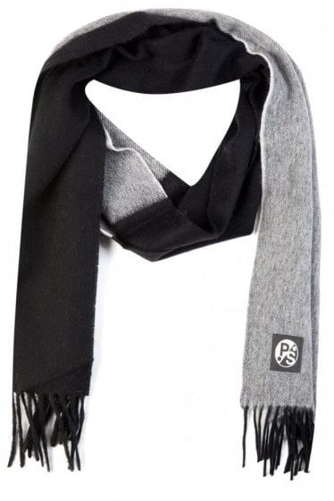 Paul Smith Half and Half Scarf Black & Grey